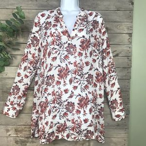 Soft Surroundings | long sleeved floral blouse